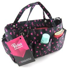 Periea handbag organiser black and pink, tidy, organizer, purse insert -Tilly