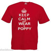 Remembrance Day Poppy Children's Kids Childs T Shirt