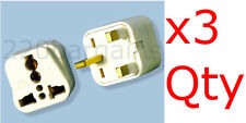 UK Ireland UAE 3 PK Plug Adapter British 3 Prong Square Adaptor Plug Type D