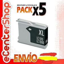 5 Cartuchos de Tinta Negra LC970 NON-OEM Brother MFC-235C / MFC235C