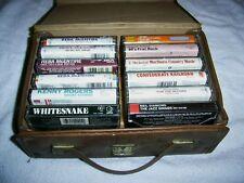 Lot of 12 Cassettes w/Case McEntire Alabama Whitesnake 60's Frat ROCK some RARE!