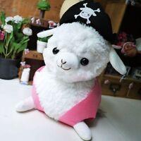 Hot White Japan Llama Alpaca Vicuna Arpakasso Alpacasso Pirate Style Cushion Toy