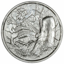 2 oz Privateer series White WHALE Ultra High Relief Silver Round P6 FREE Capsule