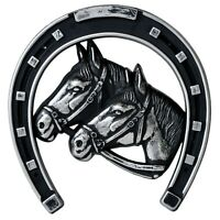 Pferd Hufeisen Pferde für Kühlergrill 3D Relief Emblem RICHTER / HR Art. 5028
