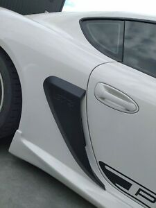 Side Air Scoop Vents Intake for Porsche 987 Boxster Cayman 06-12 Painted