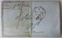 1851 Stampless Letter Paid at Edin Stamp Register House Factory 2379