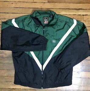 Vintage 90's Olympics Atlanta Green Black Windbreaker JcPenney Men's L