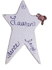 Personalized pink star wall hanging Lauren Dance Laugh