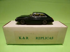 K & R REPLICAS 1:43 MGB GT MK3 RUBBER BUMP  - IN ORIGINAL BOX  - GOOD CONDITION