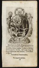 santino incisione 1600 S.MARGHERITA DI ANTIOCHIA V.M.