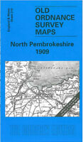 OLD ORDNANCE SURVEY MAP NORTH PEMBROKESHIRE 1909 FISHGUARD ST DOGWELLS SPITTAL