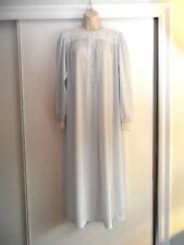 "VINTAGE CHRISTIAN DIOR SKY BLUE NIGHTGOWN~LACE~LONG SLEEVES - 36"" BUST"
