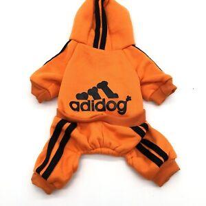 Adidog 4-Leg Jumpsuit Casual Sweatshirt Winter Pet Small Dog Warm Hoodie Costume