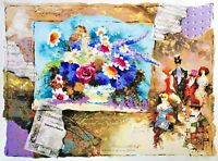 """ALEXANDER & WISSOTZKY """"BOUQUET"""" HAND SIGNED & NUMBERED SERIGRAPH ON PAPER COA"""