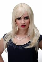Bezaubernde Perücke Blond Blond-Mix glatte Haare Pony ca. 55cm 3280-303/220