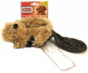 KONG BEAVER NO STUFFING PLUSH TOY Plush Squeaker Toy Includes Extra Squeaker(s)