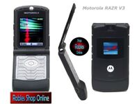 Motorola RAZR V3 Black (Ohne Simlock) 4Band Bluetooth WAP MMS Original GUT