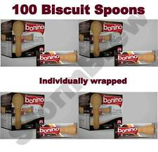 100 Biscuit Spoons for your tea, coffee or hot chocolate. Individually wrapped
