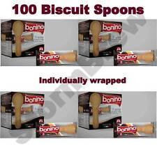 100 Cucchiaini di Biscotto per il tè, caffè o cioccolata calda. avvolti individualmente