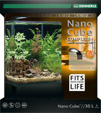 Dennerle Nano Cube 30L Complete+ LED Aquarium Tank with Substrate Light & Filter