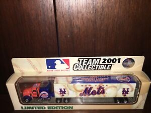 2001 NEW YORK METS PETERBILT TRAILER/1:80 SCALE/WHITE ROSE COLLECTIBLES.