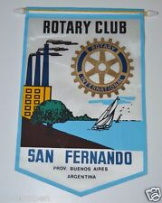 WOW Vintage San Fernando Buenos Aires Argentina Rotary Club International Banner
