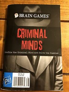 Brain Games Criminal Minds NEW Profile The Criminal Mind & Solve The Puzzle Book