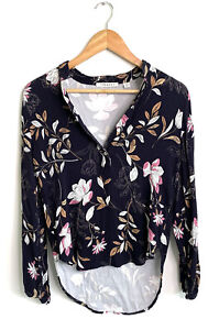 Trenery Floral Button Up Long Sleeve Blouse - Size XS