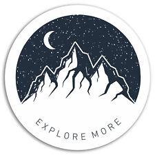 2 x 10cm Explore Mountains Vinyl Stickers - Moon Sticker Laptop Luggage #17849
