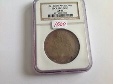1821 Great Britain Crown Edge Secundo NGC XF 45