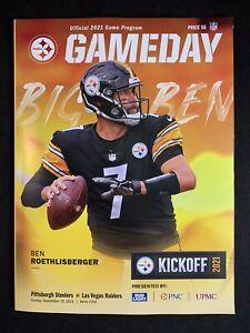 Pittsburgh Steelers Official GameDay Program Vs. Las Vegas Raiders 9.19.2021
