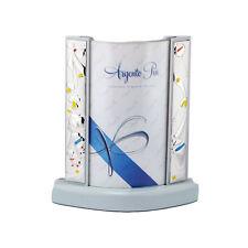 Cornice Azzurra Laminata in Argento con Fantasie Varie in Rilievo Multicolore