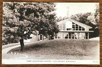 RARE 1956 LAKE GENEVA WISCONSIN POSTCARD CAMP AUGUSTANA CHAPEL Lutheran Church