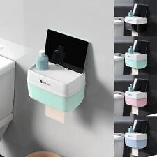 Toilet Paper Holder Roll Tissue Box Dispenser Rack Bathroom  Wall Mount #