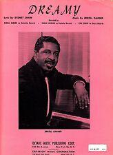 Dreamy Erroll Garner Sydney Shaw 1960 Sheet Music