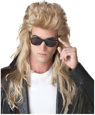 Synthetic Peluca Role play Reenactment Costume Blonde Rockstar Wig