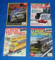 Classic Toy Trains Magazine Lot of (4) All from the Year 2000