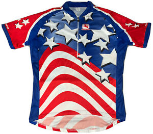 Giordana Cycling Jersey American Stars And Stripes  Men's Size L.