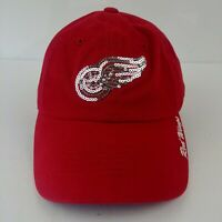 Detroit Red Wings Fan Favorite Womens Strapback Hat Cap NHL Hockey Red New
