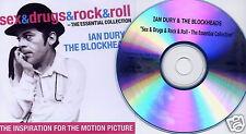 IAN DURY & BLOCKHEADS Sex & Drugs & Rock & Roll Essential UK 20trk promo test CD