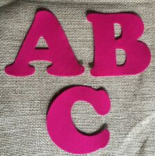 Pink Iron On Letters & Numbers