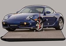MODEL CARS, PORSCHE CAIMAN-S-01, car passenger,11,8x 7,8 inches  with Clock