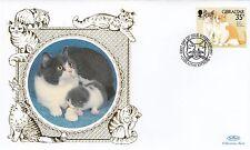 (81147) Gibraltar Benham FDC Cats - 12 February 1997