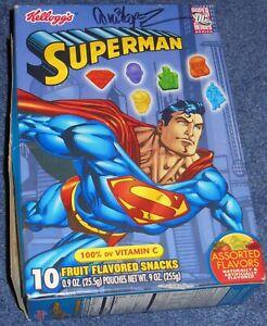 SUPERMAN~KELLOGG FRUIT SNACK BOX~DC COMICS~SIGNED GARCIA-LOPEZ~2003