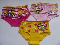 Minions Mädchen Unterhosen Slips Panties 3er Pack Gr. 116/122