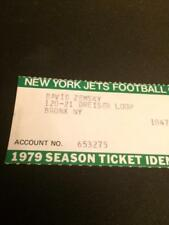 1979 New York Jets Season Ticket ID Card Official Jets/NFL 1.00!!!!!!!!!!!!!!!!!