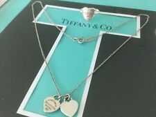 Tiffany & Co. Heart Return to Tiffany Set. Necklace Ring size 6. Authentic.