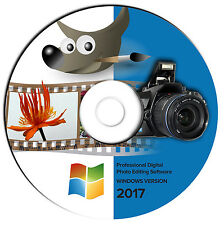 NEW 2017 Pro Digital Photo Retouch Image Editing-Graphic Design Software-GIMP-CD