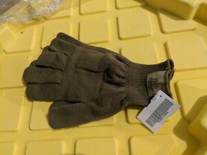 2 Pair USGI CW Lightweight Wool Glove Liners, Coyote Brown  Medium-Large