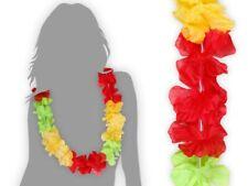 Hawaii-chaîne bleu rouge fleurs-chaîne Hawaï slogan 28 beach-party Hula tikki NEUF